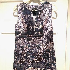Floral Shift Dress in Purple/Blue